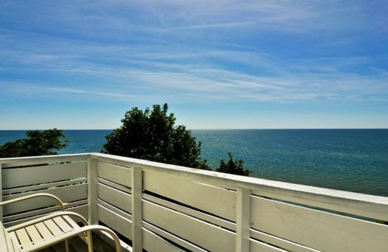 Deck view at Michillinda Beach Lodge.