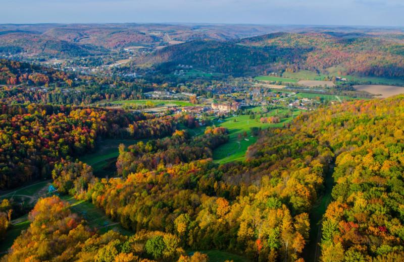 Fall at Holiday Valley Resort.