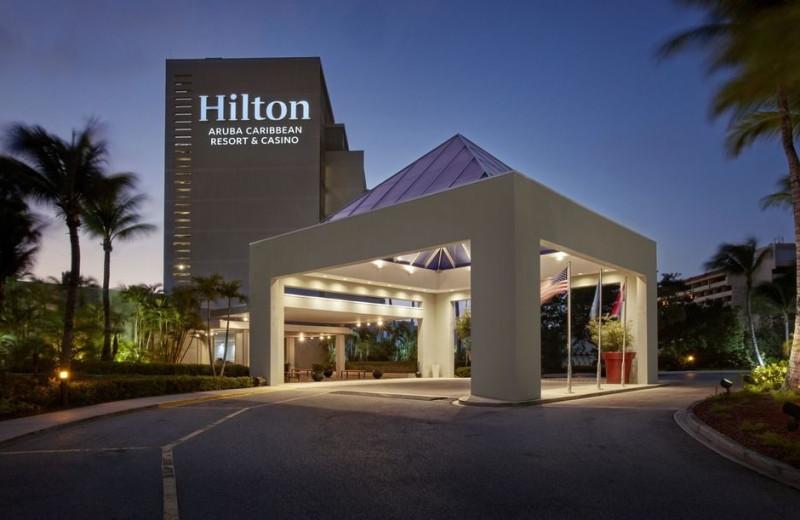 Exterior view of Hilton Aruba Caribbean Resort.