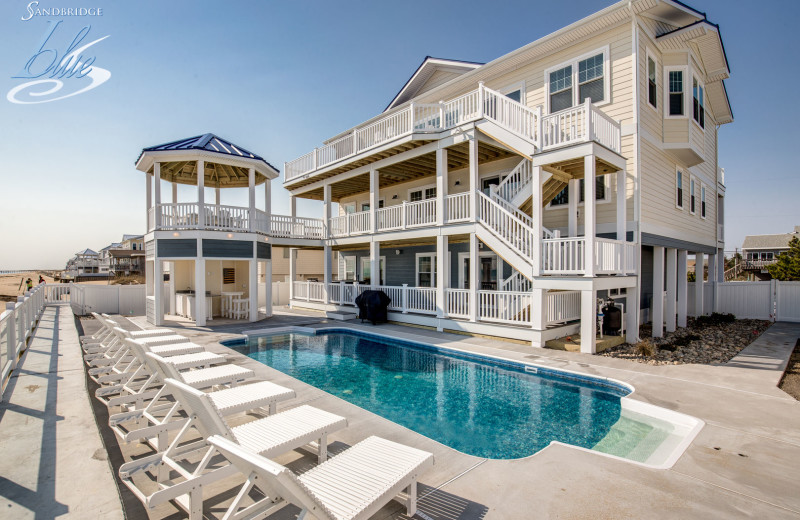 Rental exterior at Sandbridge Blue Vacation Rentals.