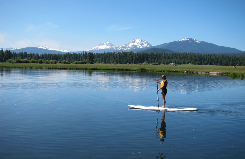 Paddle board at Black Butte Ranch.