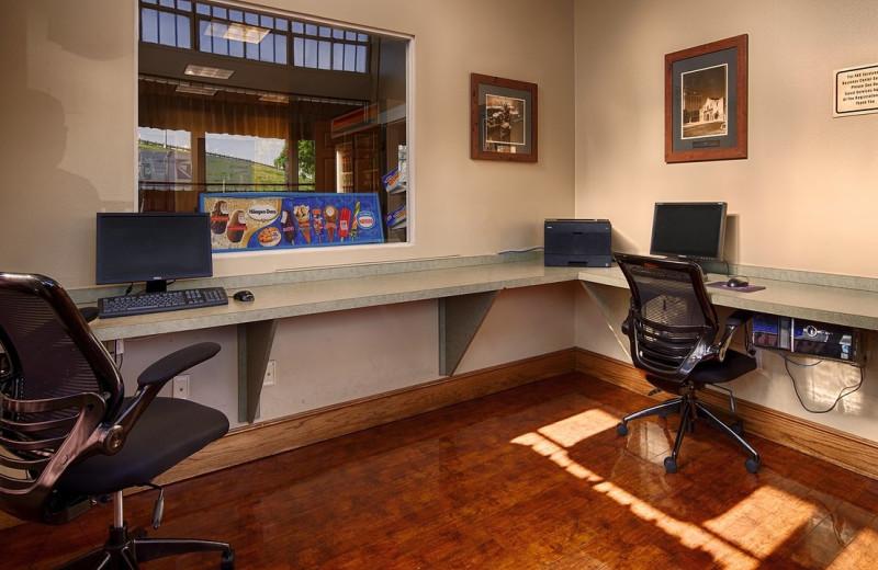 Business center at Best Western Plus Sunset Suites Riverwalk.