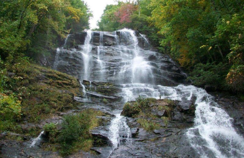 Amicalola Falls near Georgia Mountain Cabin Rentals.