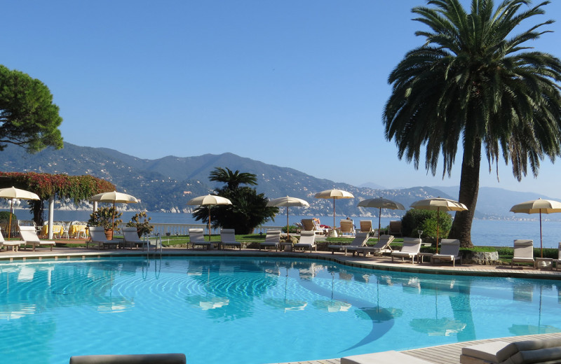Outdoor pool at Grand Hotel Miramare.