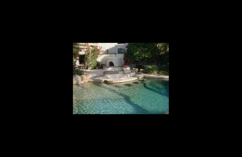 Vacation rental pool at Santa Rosa Realty.