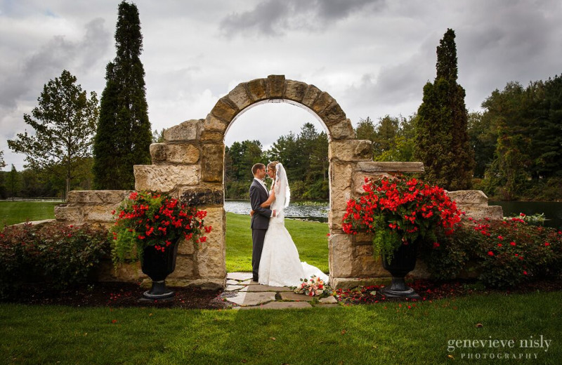Wedding couple at Gervasi Vineyard.