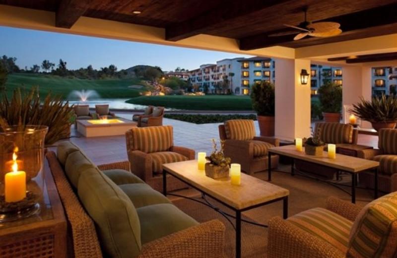 Outdoor lounge at Arizona Grand Resort.