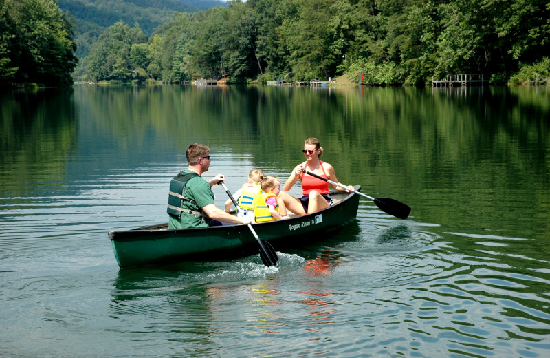 Canoeing at Rumbling Bald Resort.