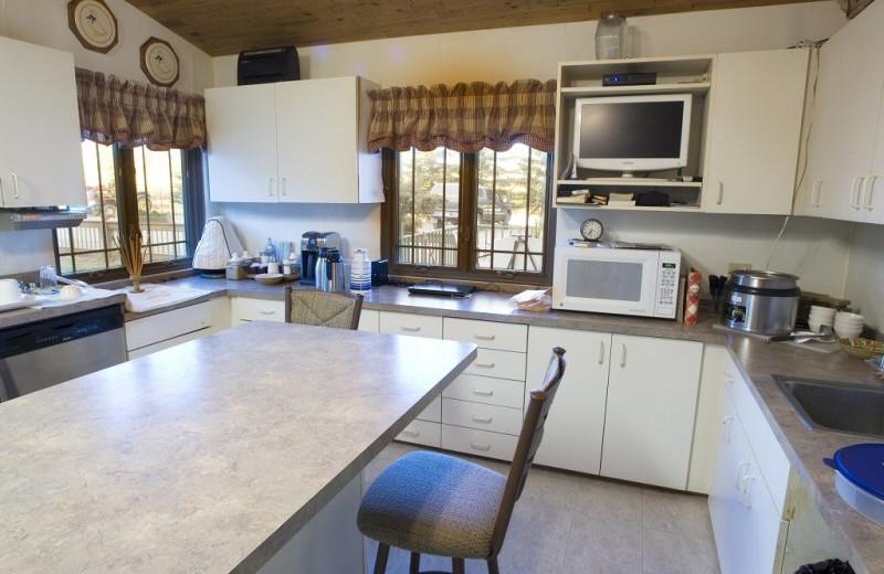 Kitchen at Lund's Landing Resort.