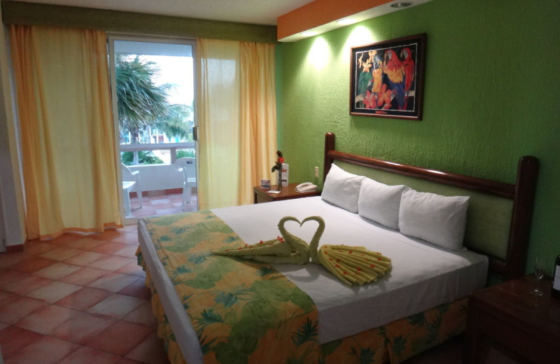 Guest room at Solymar Beach and Resort.