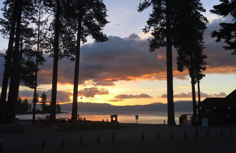 Sunset at Meeks Bay Resort.