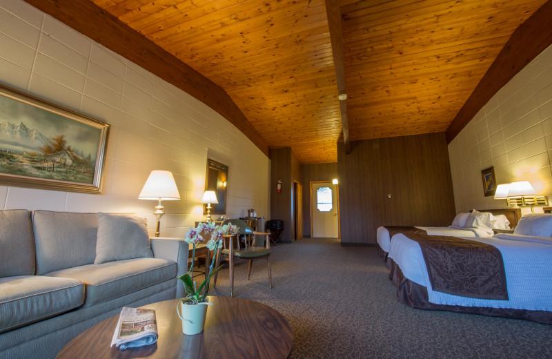 Guest room at Lukan's Farm Resort.