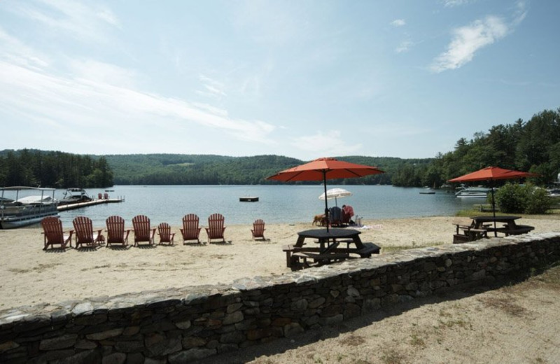 Beach at Cottage Place on Squam Lake.
