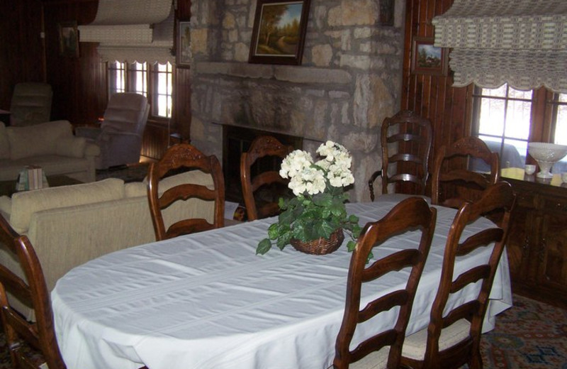 Dining table at Basswood Country Resort.