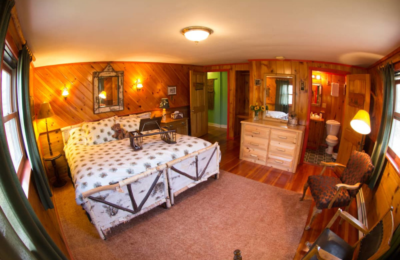 Guest room at Lake Clear Lodge & Retreat.