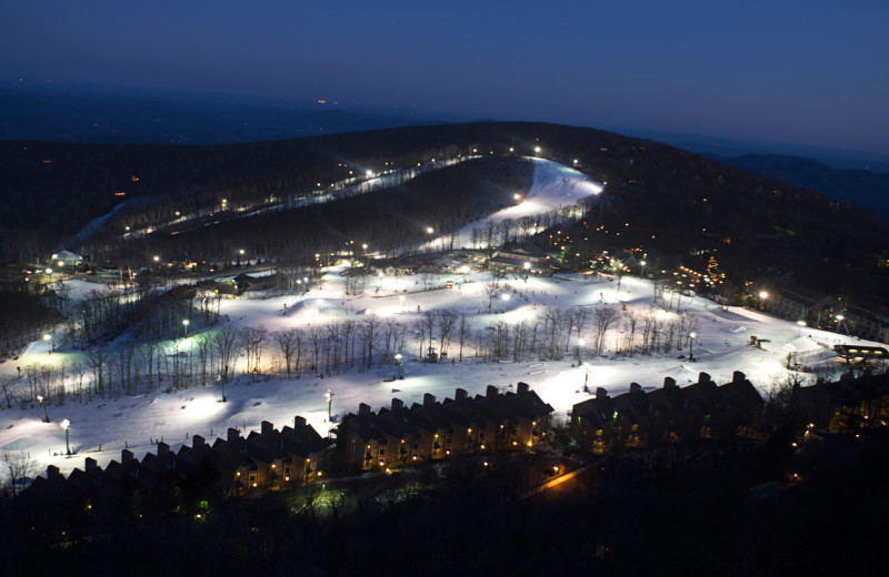 Skiing at Wintergreen Resort.