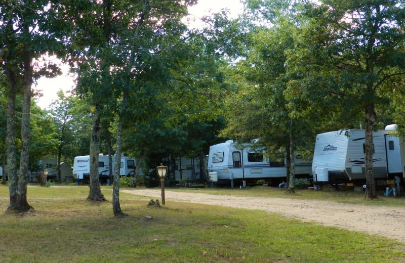 RV resort at Schatzi's 4 Seasons Resort.
