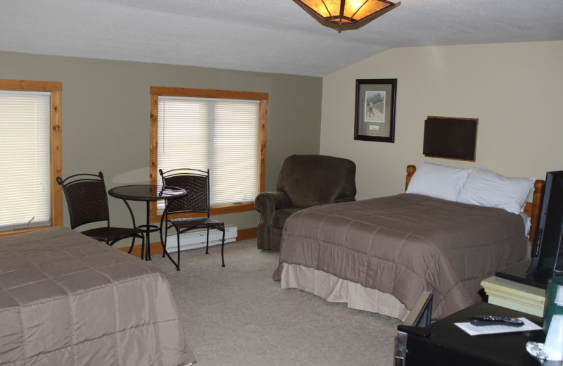 Guest room at Big Sandy Lodge & Resort.