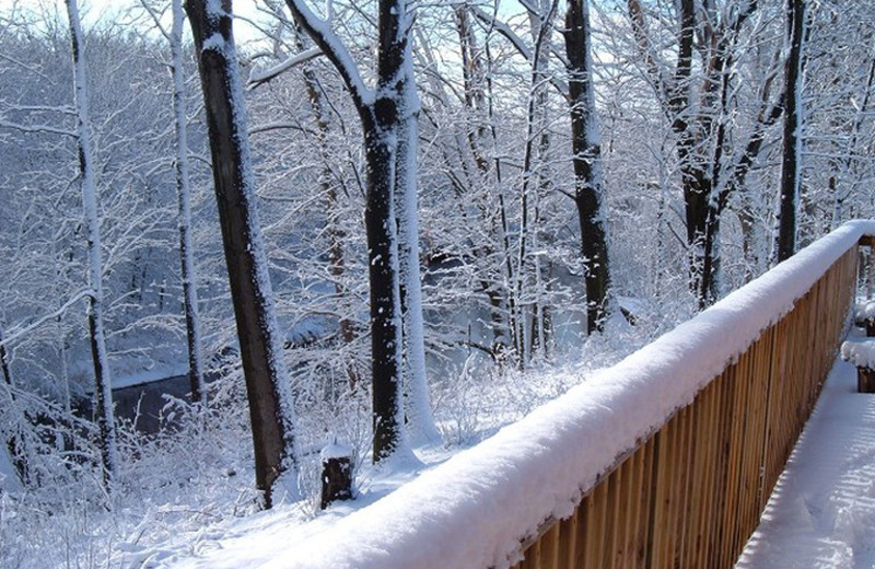Deck at Riverbend Retreat Resort Lodge & Cottages.