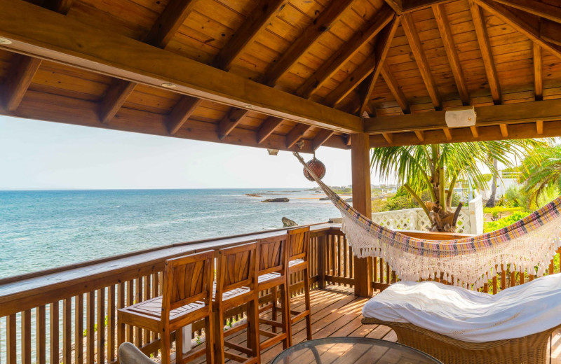 Rental balcony at Villa Coyaba.