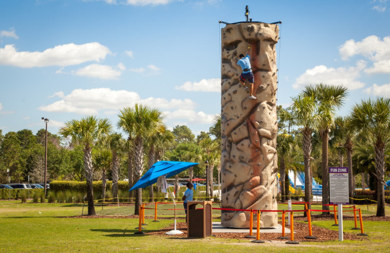 Rock climbing at Holiday Inn Club Vacations at Orange Lake Resort.