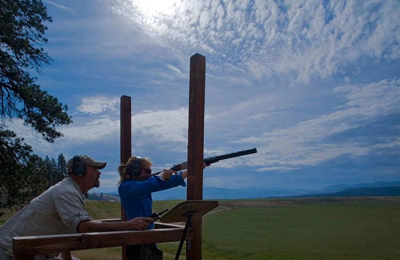 Shooting range at The Resort at Paws Up.