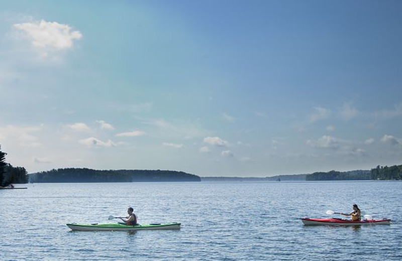Kayaking at JW Marriott The Rosseau Muskoka Resort & Spa.