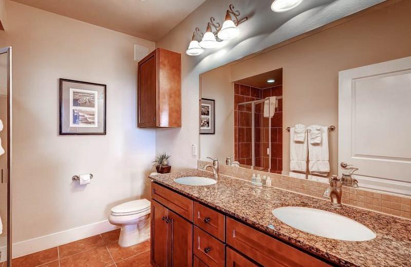 Rental bathroom at Pointe West Properties.