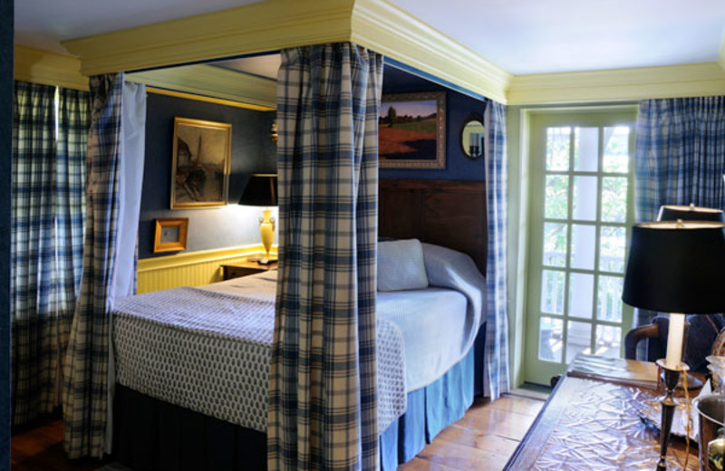 Guest room at Porches Bed & Breakfast.