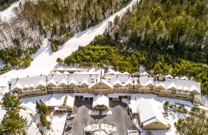 Exterior view of Attitash Grand Summit Hotel.