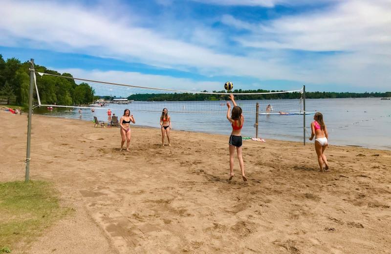 Beach at Cragun's Resort and Hotel on Gull Lake.