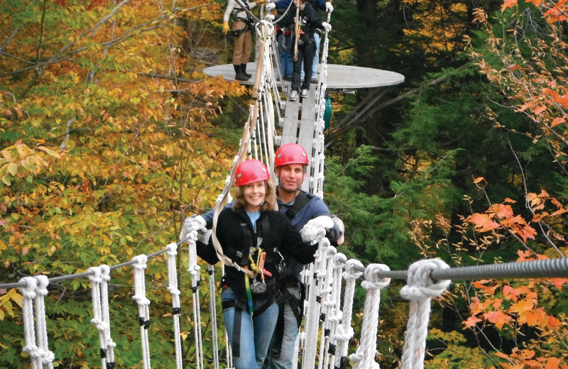Rope course at Smugglers' Notch Resort.