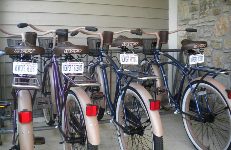Bikes at Newport Resort.