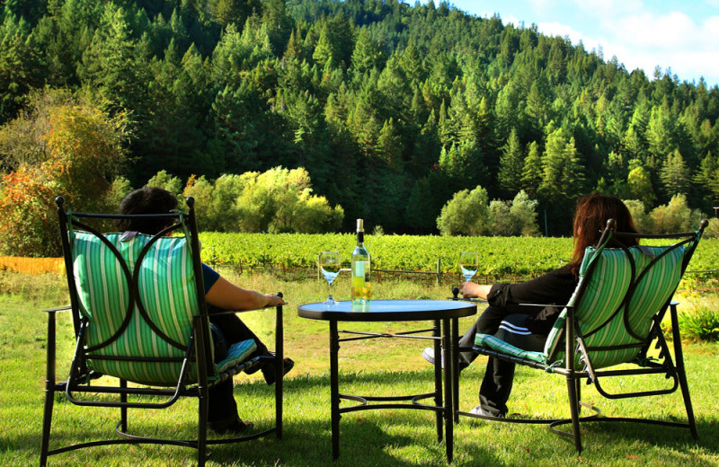 Relaxing at West Sonoma Inn and Spa.
