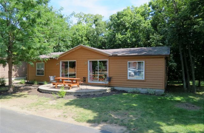 Vacation rental exterior at Island Club Rentals.