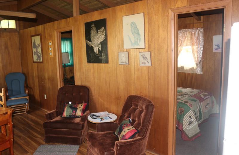 Cabin living room at Four Seasons Resort.