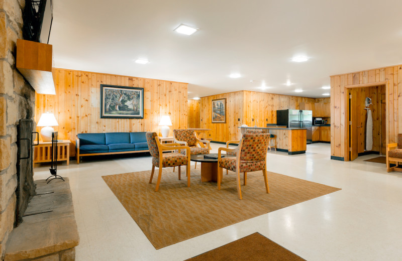 Cabin living room at Oglebay Resort and Conference Center.