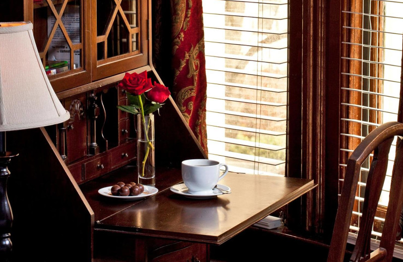 Desk at American Guest House.
