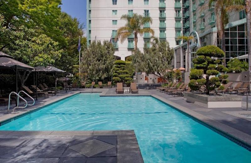Outdoor pool at Hyatt Regency Sacramento.
