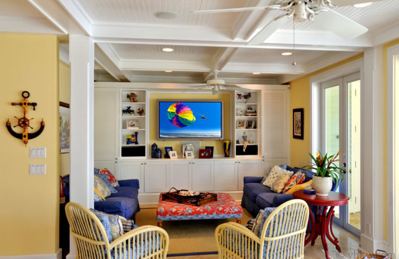 Rental living room at Vacation Homes of Key West.