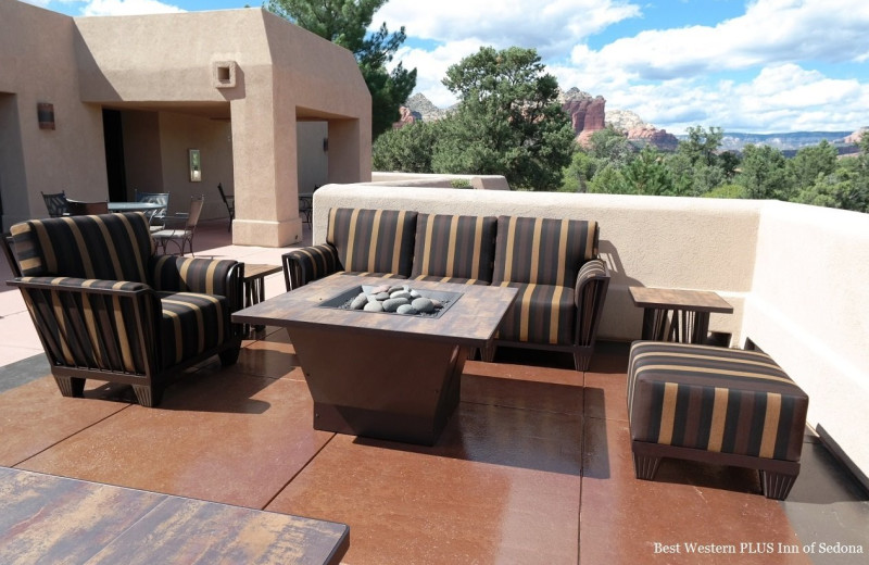 Patio at Best Western PLUS Inn of Sedona.