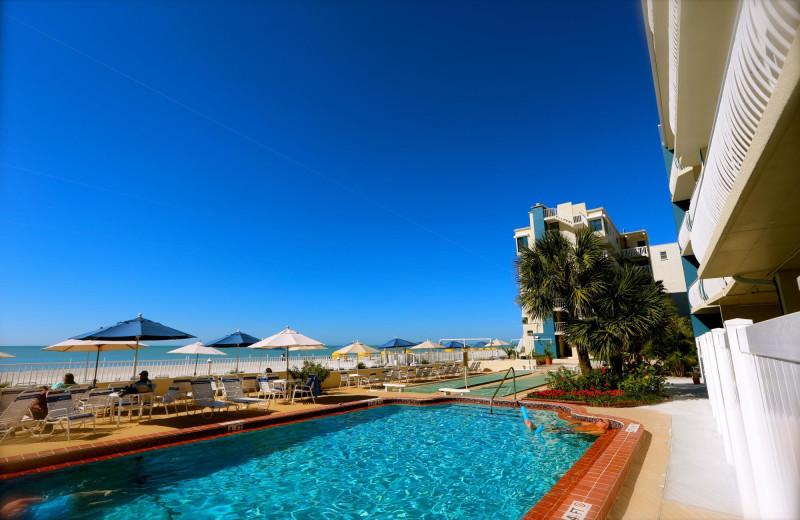 Outdoor pool at Shoreline Island Resort.