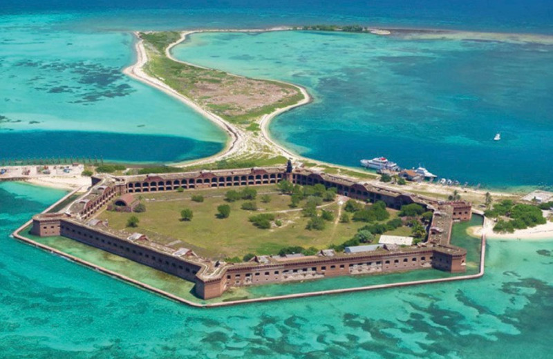 70 miles west of us, is Dry Tortugas National Park and historic Fort Jefferson, one of the best day trips in the Keys!