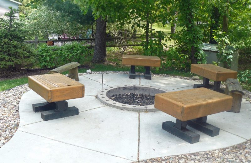 Sand County Service Company - Linken Log patio and fire pit.