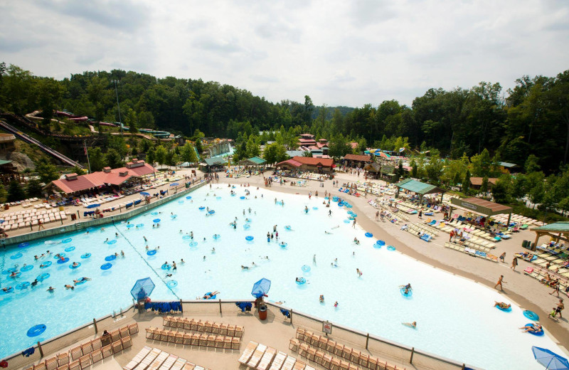 Dollywood's Splash Country near Timbers Lodge.