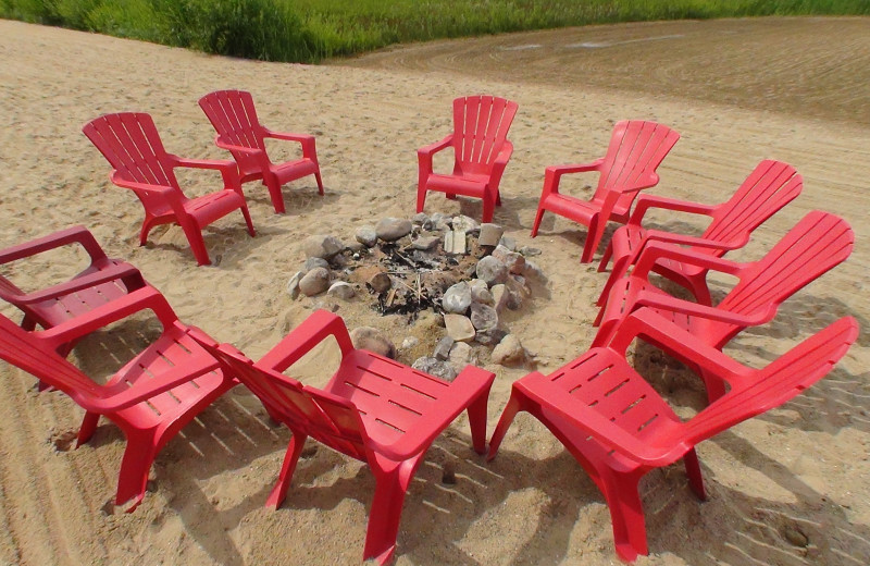 Fire pit at The Cherry Tree Inn & Suites.