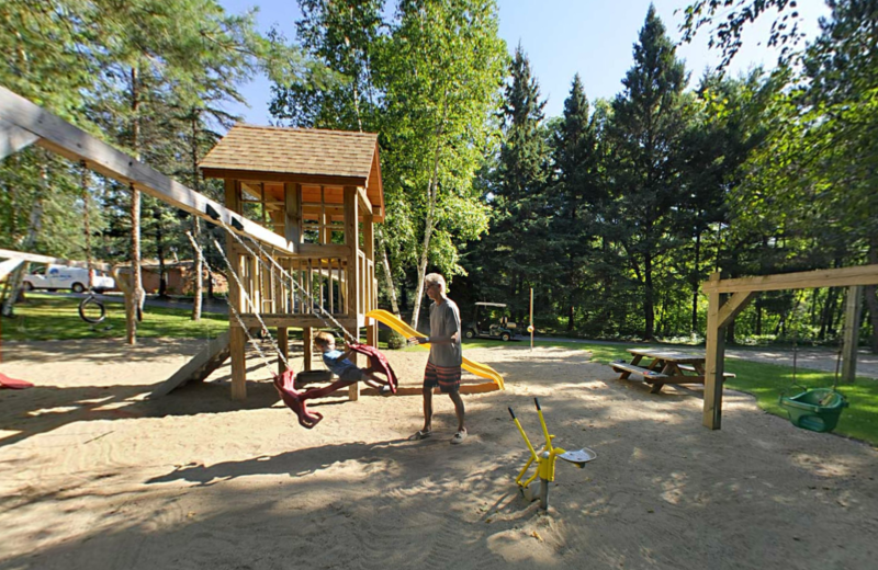 Playground at Black Pine Beach Resort.