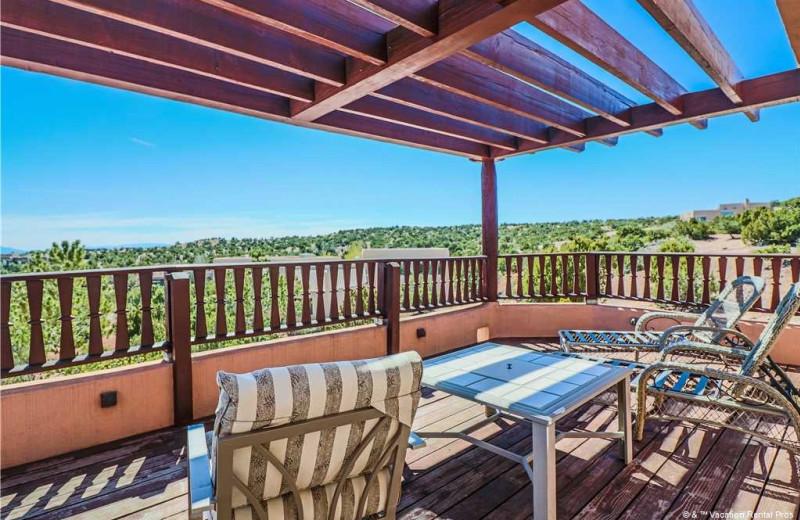 Rental deck at Vacation Rental Pros - Santa Fe.