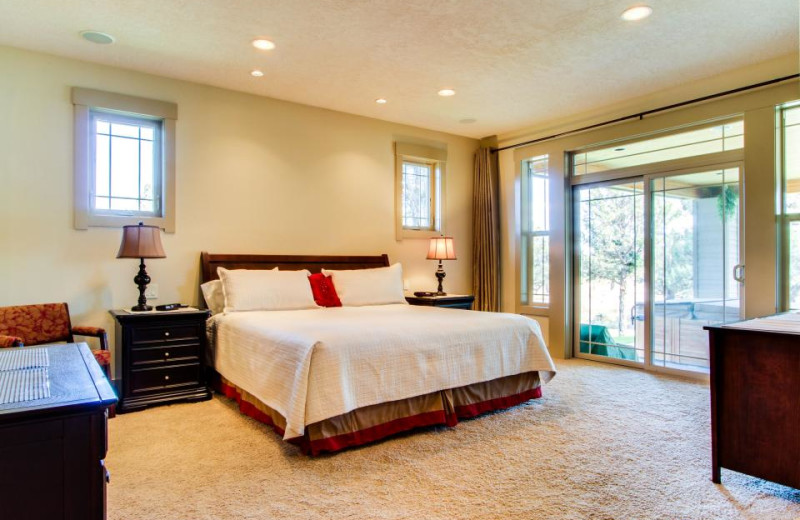 Vacation rental bedroom at Vacasa Rentals Eagle Crest.