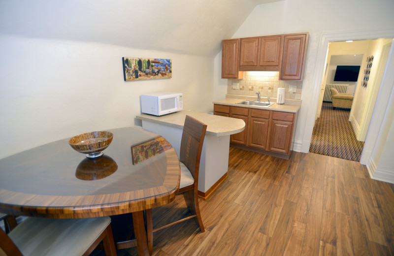 Alternate view of Kitchen - Large One Bedroom apartment suite at Friendship Suites.